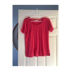 Madewell Hot Pink T-Shirt In Size Medium